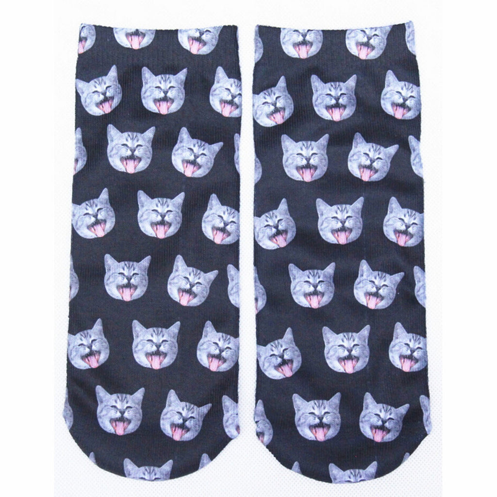 Happy Cats Adorable Cotton Animal Socks