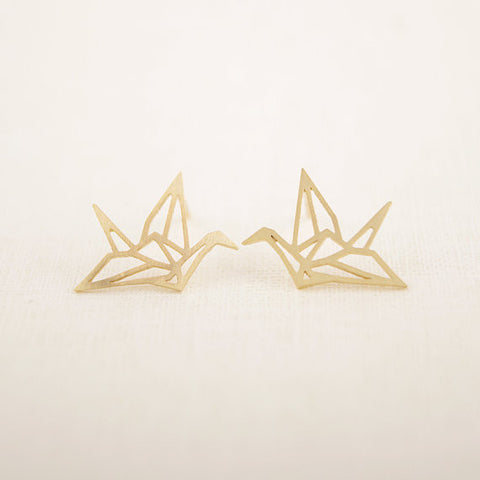 Charming Origami Crane Earrings - D'aww Factory