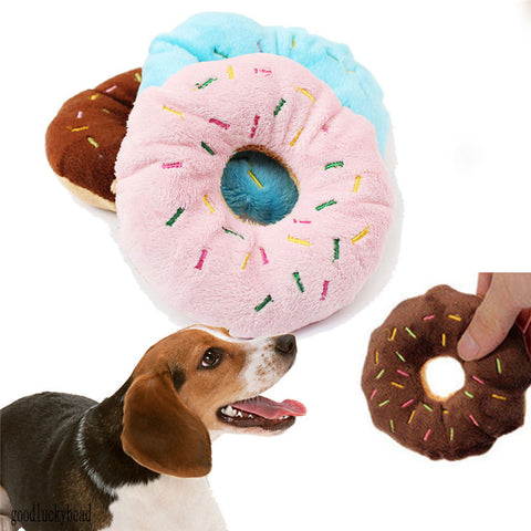 Donut Chew Toy Squeaker - D'aww Factory