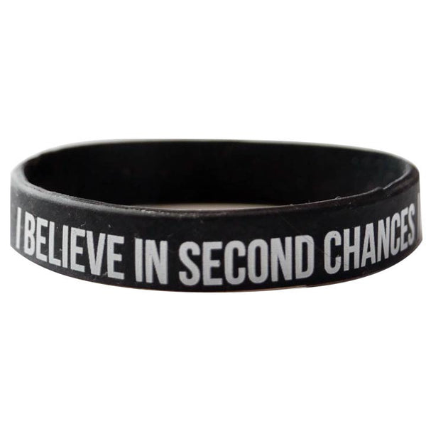 """I Believe In Second Chances"" Wristband"