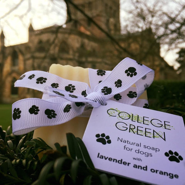 By invitation from Tewkesbury Abbey - College Green soaps are now stocked in the abbey gift shop