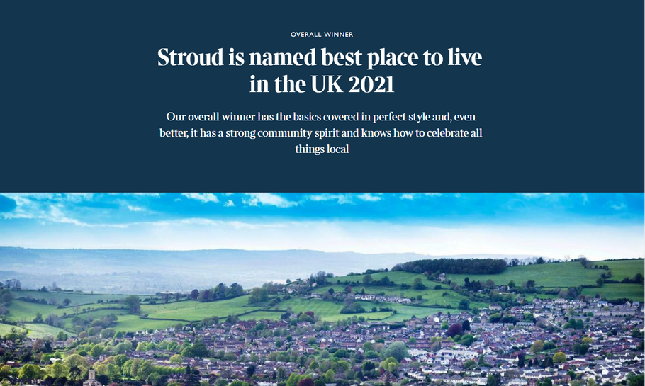 Independent, local & officially the best place to live in the UK - welcome to Stroud