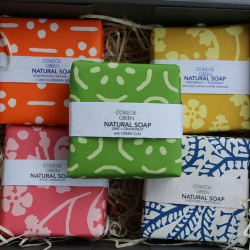 Gift set - five soaps in a box