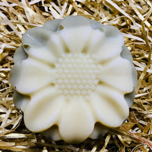 Sunflower shaped soap unwrapped