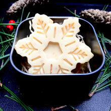 Snowflake shaped soap in a tin