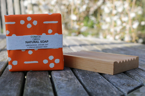 Lemongrass, Ginger & Oat Beer Soap