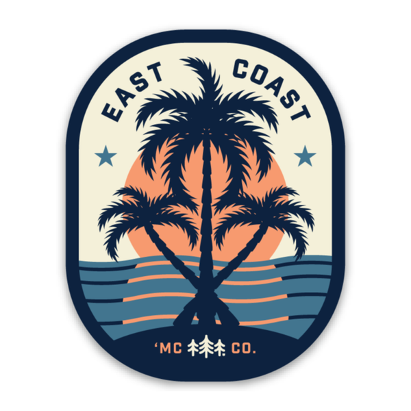 Hurricane Dorian Fundraiser - East Coast Palms Sticker