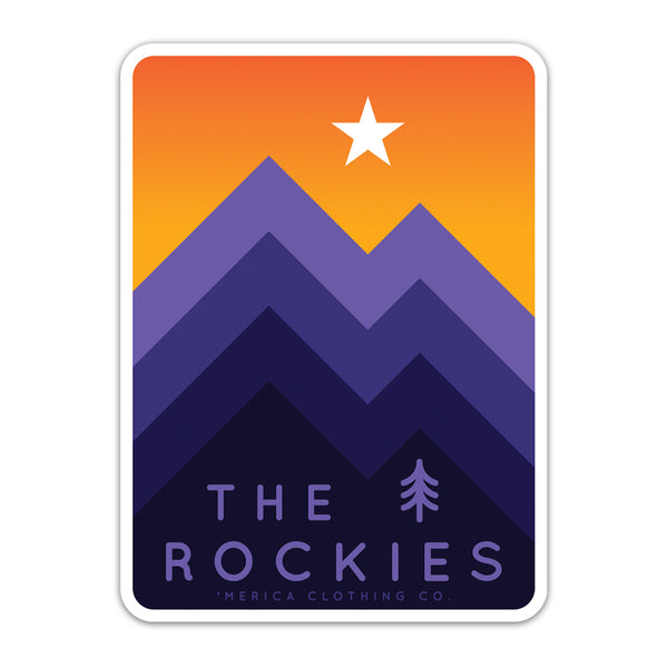 The Rockies - Sticker