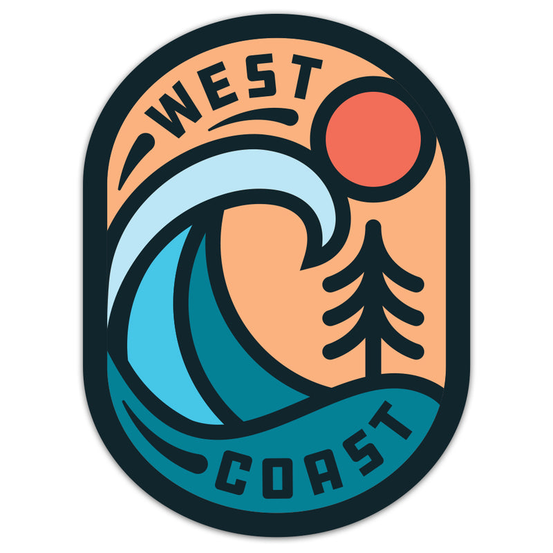 West Coast - Sticker