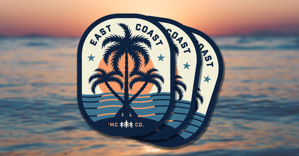 East Coast Palms Sticker