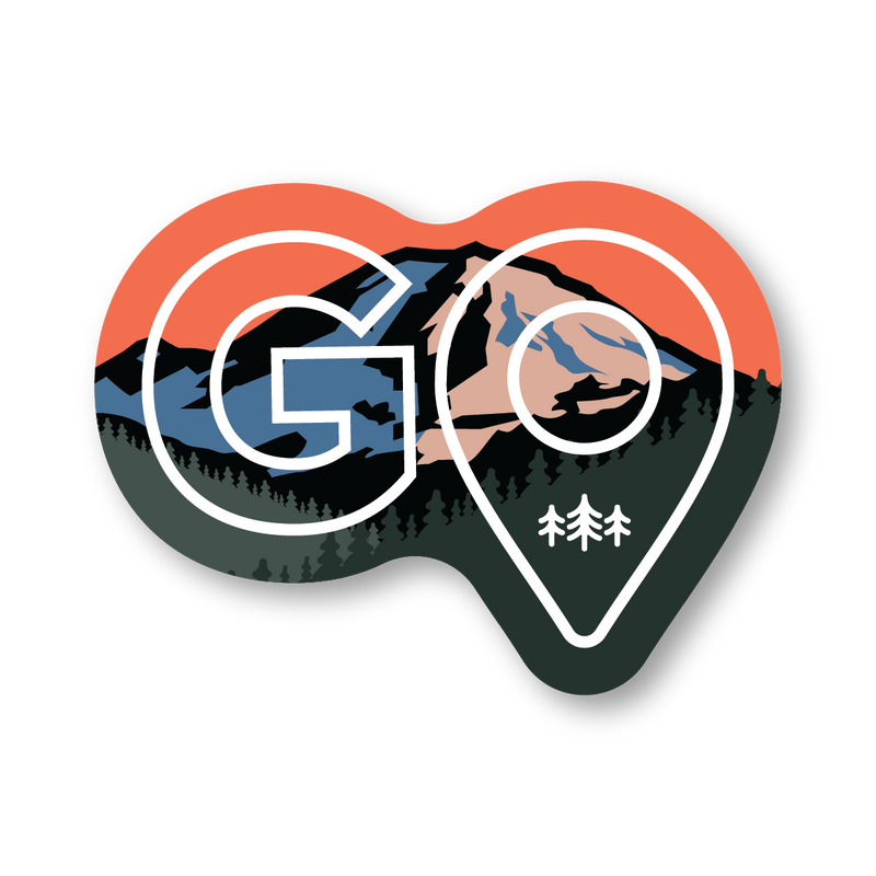 GO - Mountain - Sticker