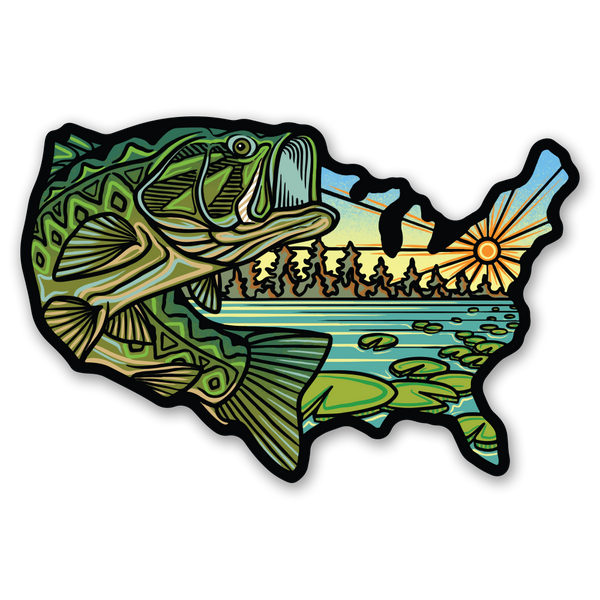 USA Bass - Sticker