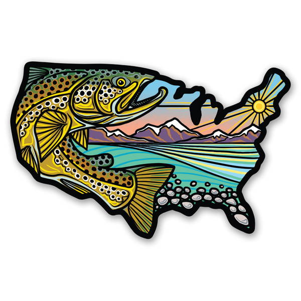 USA Trout - Sticker