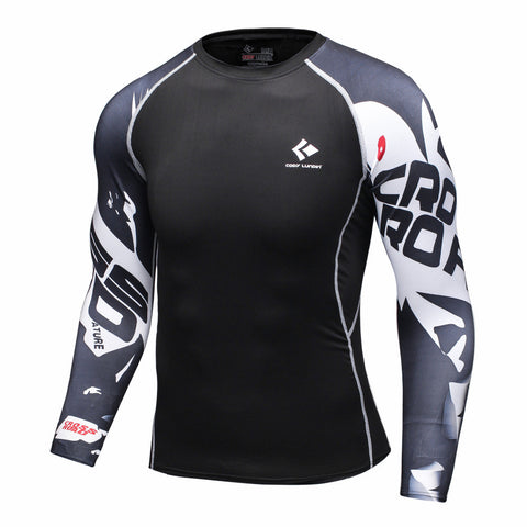 COMPRESSION BASE LAYER RASH GUARD T SHIRT FOR MMA  AND FOR GYM