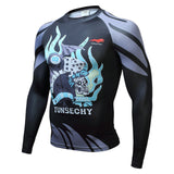 Fitness T shirt Men Compression shirts long sleeve Tight MMA T SHIRT