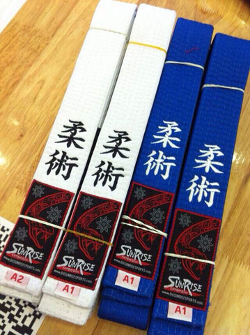 New Sunrise Fightwear Brazilian Jiu-Jitsu MMA Gi BJJ Belts Black, Brown, Purple, Blue, and White