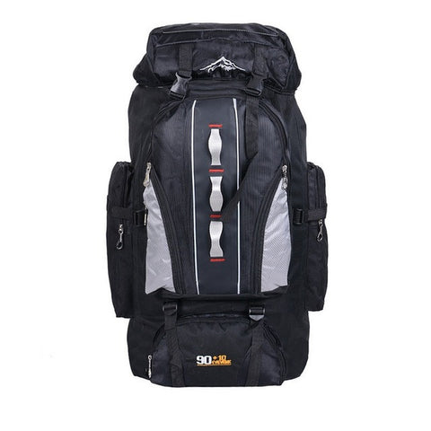 100L Outdoors Sports Bags Waterproof Nylon Backpack Women Men Hiking Camping Climbing Fishing Rucksack XA769A