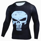 t-shirt Men Captain America Long Sleeve 3D T shirt Fitness Camiseta Brand Clothing MMA