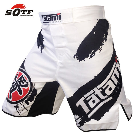 BLACK AND WHITE INK PERSONALIZED SPORT TRAINING AND COMPETITION MMA SHORTS