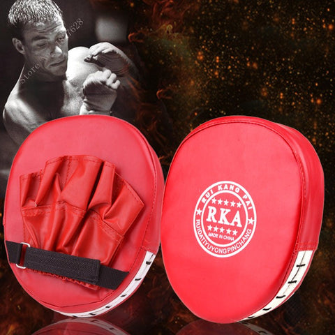 Boxing Mitt Training Target Focus Punch Pad Glove MMA Karate Muay Kick Kit Red