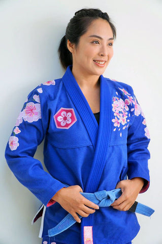 Women Brazilian SUNRISE Cherry Blossoms Jiu Jitsu Gi Bjj Gi Class