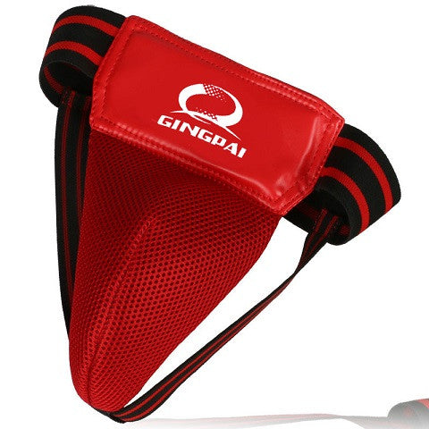 adult male red MMA crotch protector