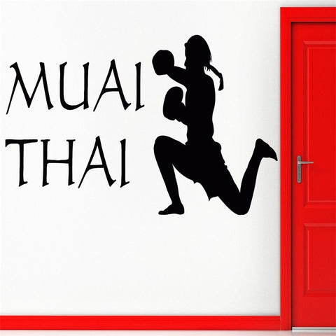 Wall Sticker Muai ThaiThailand Cool Decor