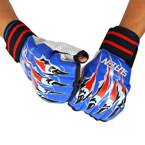 New SUTEN 1 Pair Half Finger Fight Boxing Gloves Mitts Sanda Karate Sandbag