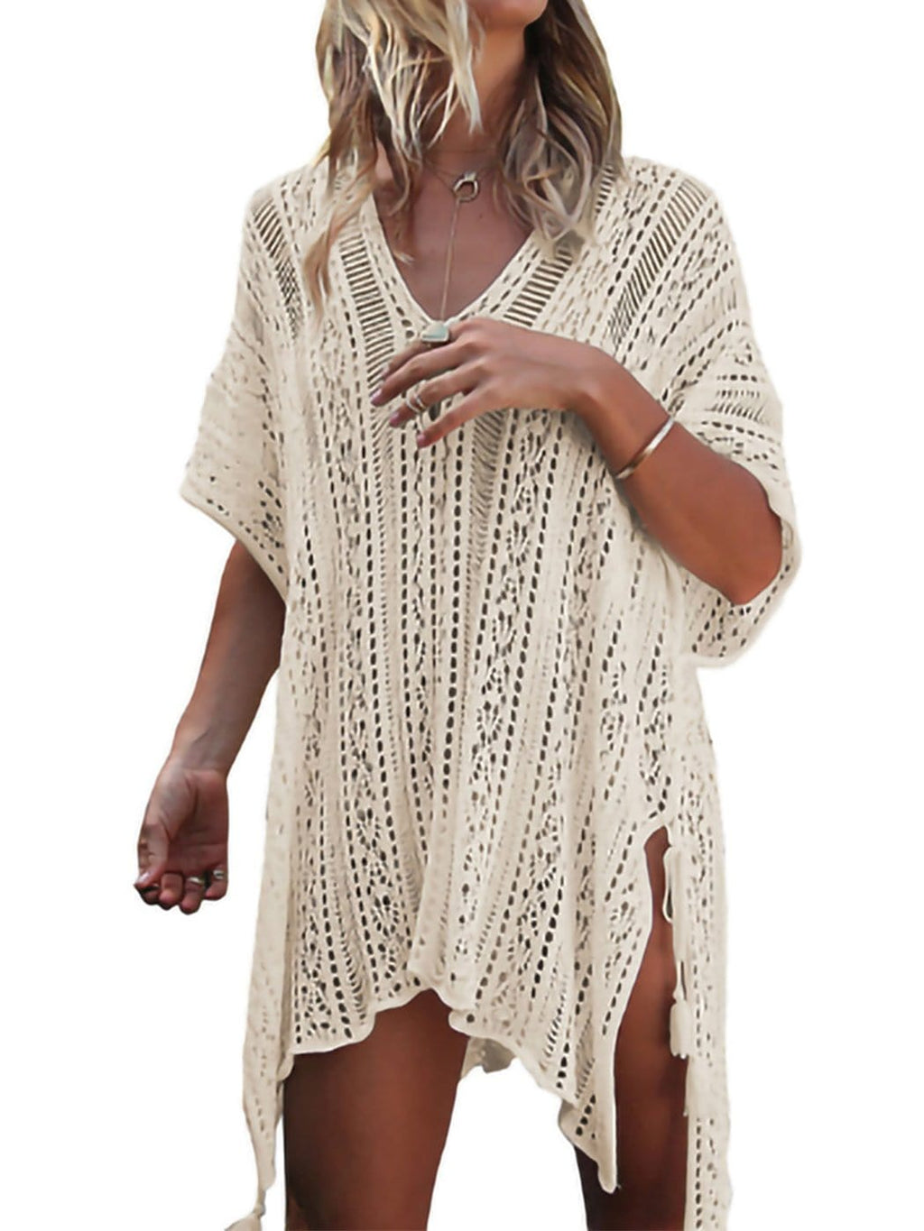 Boho Flair Crochet Sheer Coverup