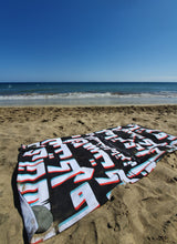 """I am not everything you see"" Beach Towel (Black)"