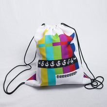 """Beep"" Drawstring Bag (White)"