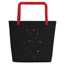 """Arabic Language Fanatic"" Beach Bag (Black)"