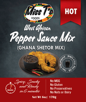 West African Pepper Sauce Mix/ Ghana Shetor Mix 6oz - HOT