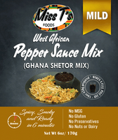 West African Pepper Sauce Mix/ Ghana Shetor Mix 6oz - MILD