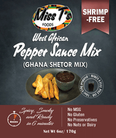 West African Pepper Sauce Mix/ Ghana Shetor Mix 6oz - SHRIMP-FREE