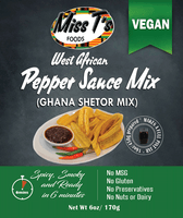 West African Pepper Sauce Mix/ Ghana Shetor Mix 6oz - VEGAN