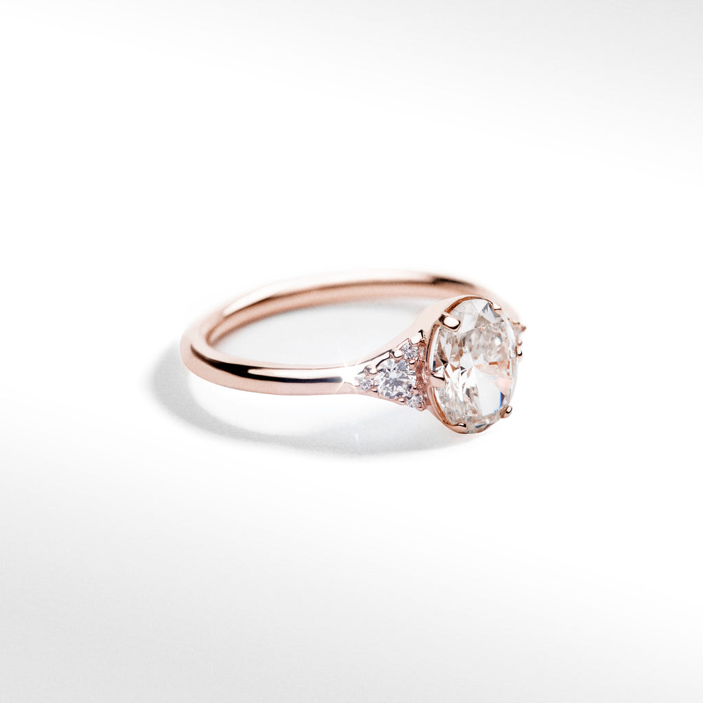 Oval Multi-Stone Ring 14k Rose Gold