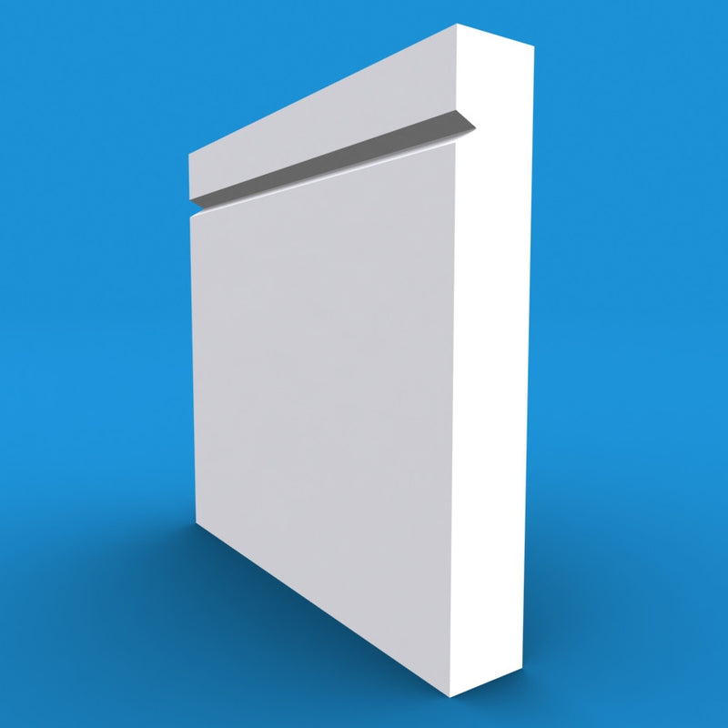 Square Edge V Grooved MDF Skirting Board