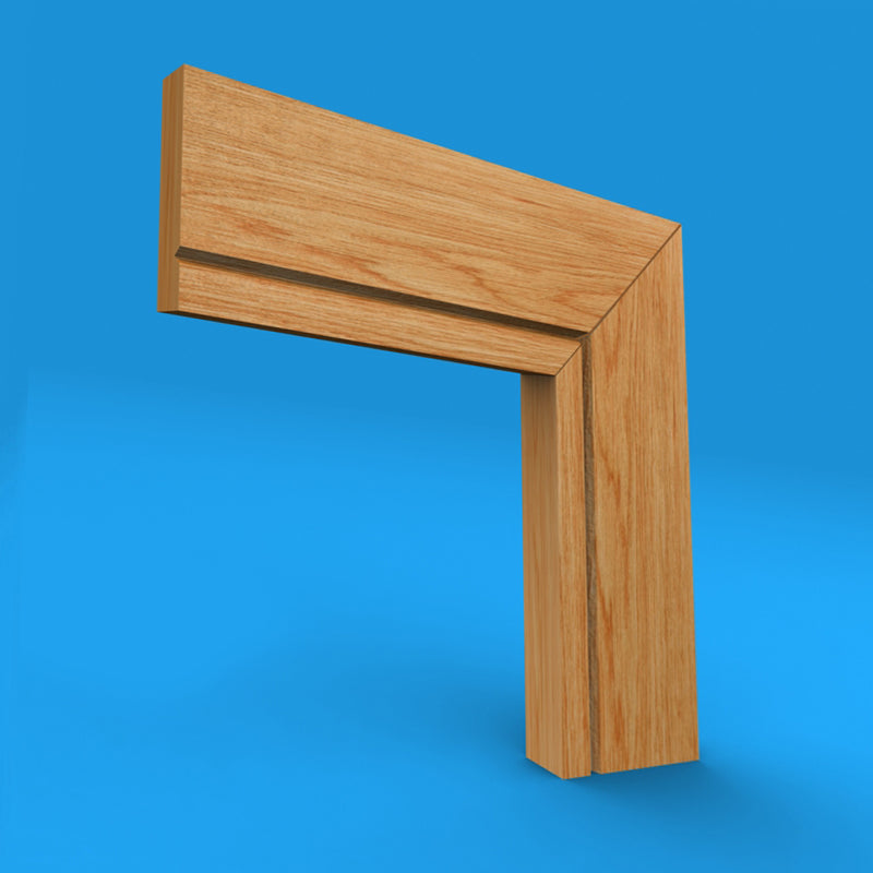 Square Edge V Grooved Oak Architrave