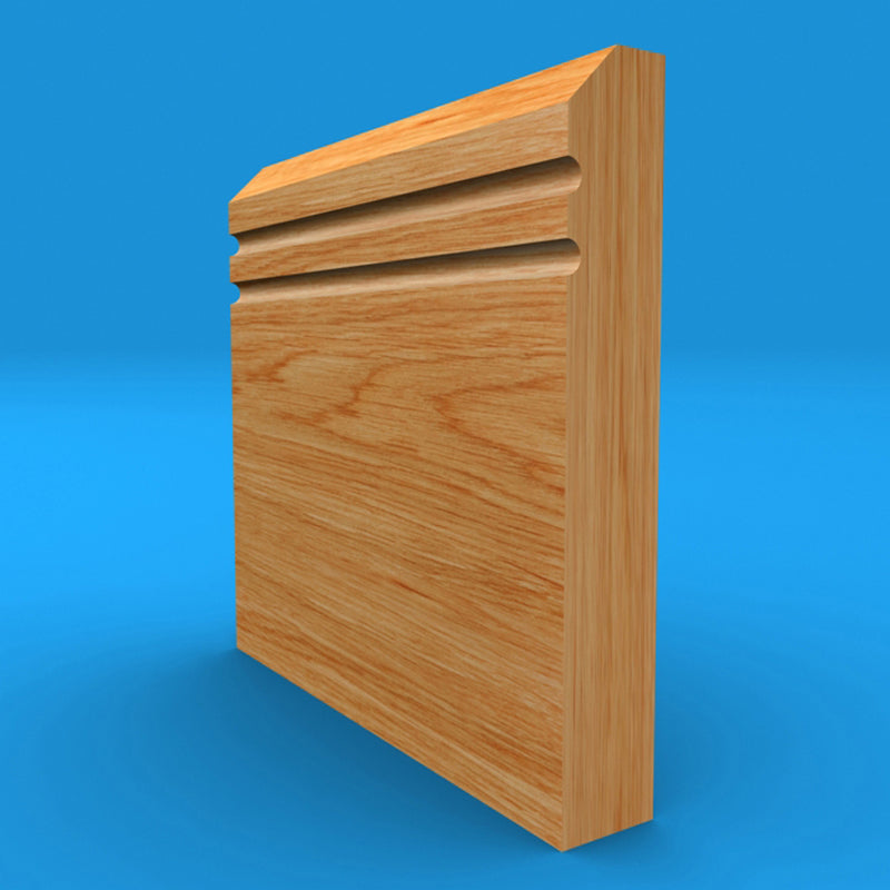 Edge C Grooved 2 Solid Oak Skirting Board