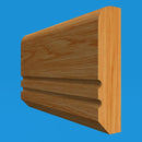 Edge C Grooved 2 Oak Dado Rail