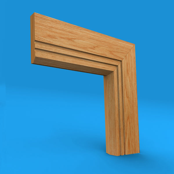 Edge C Grooved 2 Oak Architrave