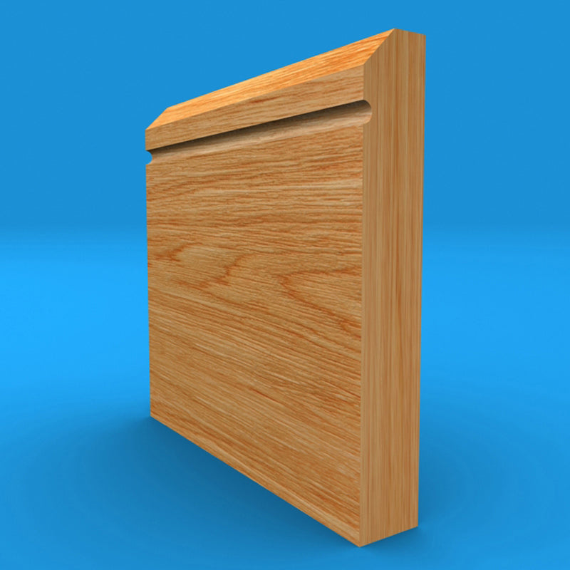 Edge C Grooved Solid Oak Skirting Board