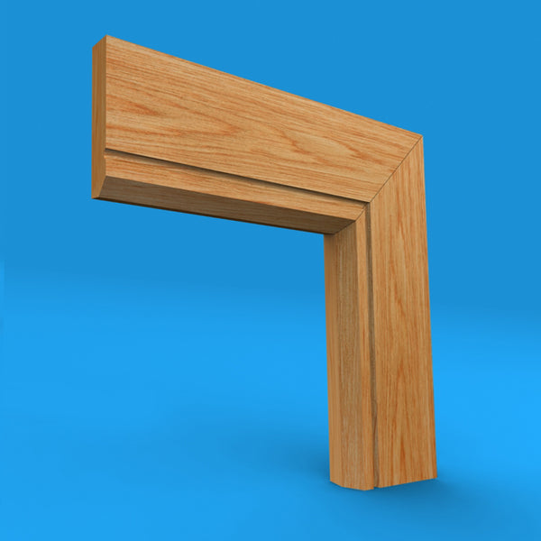 Edge C Grooved Oak Architrave