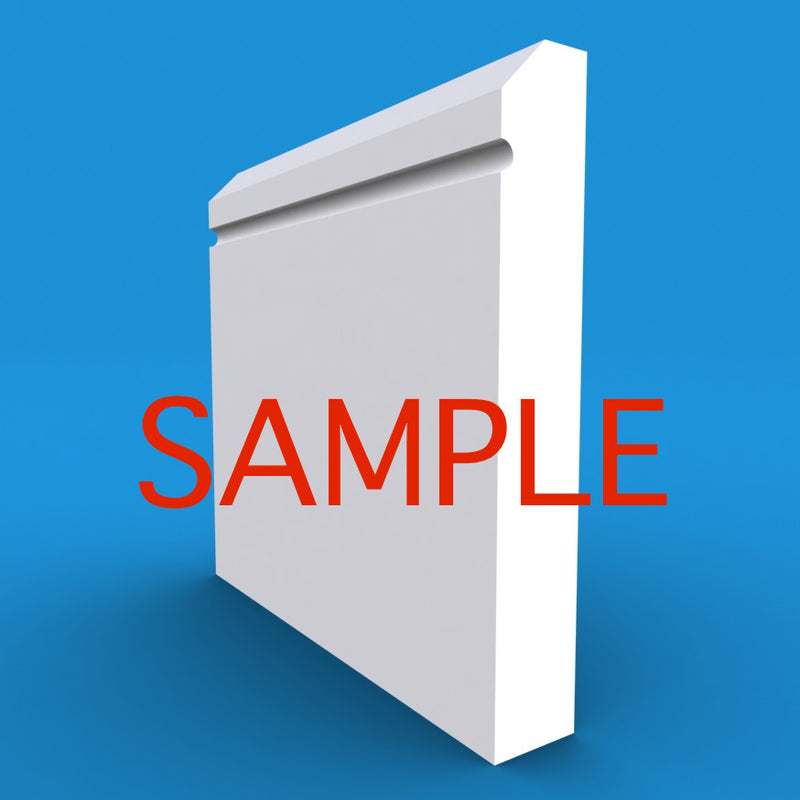 Edge C Grooved MDF Skirting Sample