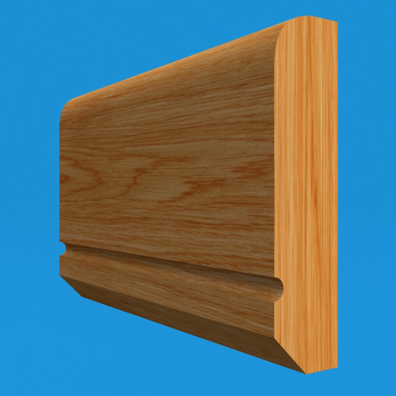 Edge C Grooved Oak Dado Rail