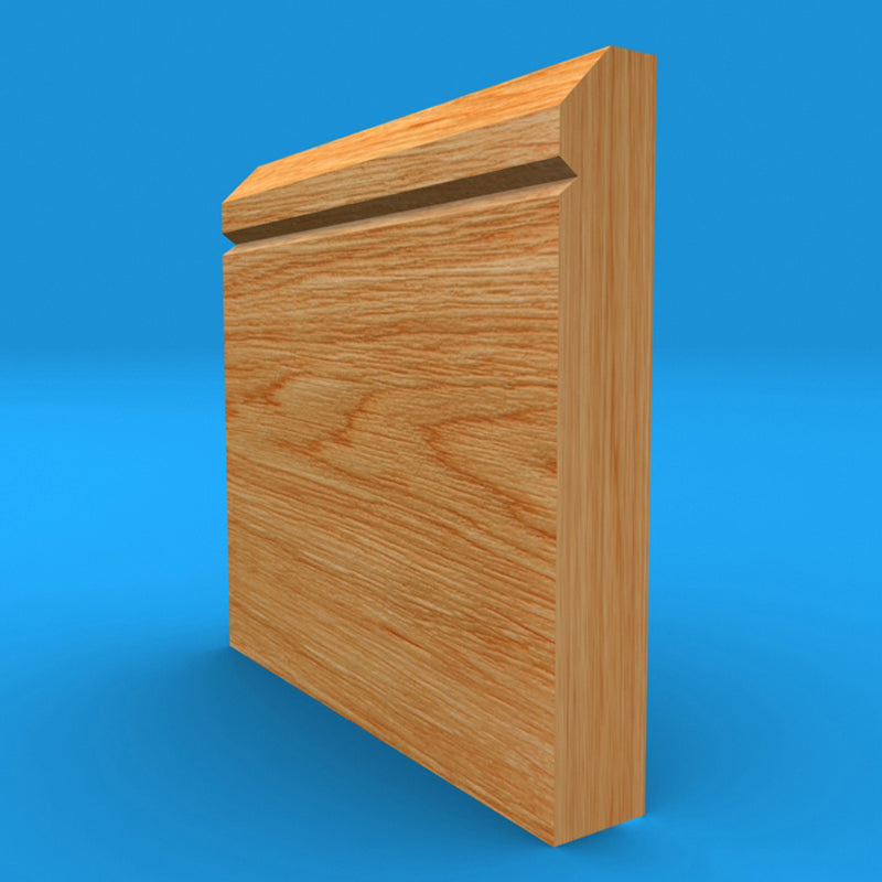 Edge V Grooved Solid Oak Skirting Board
