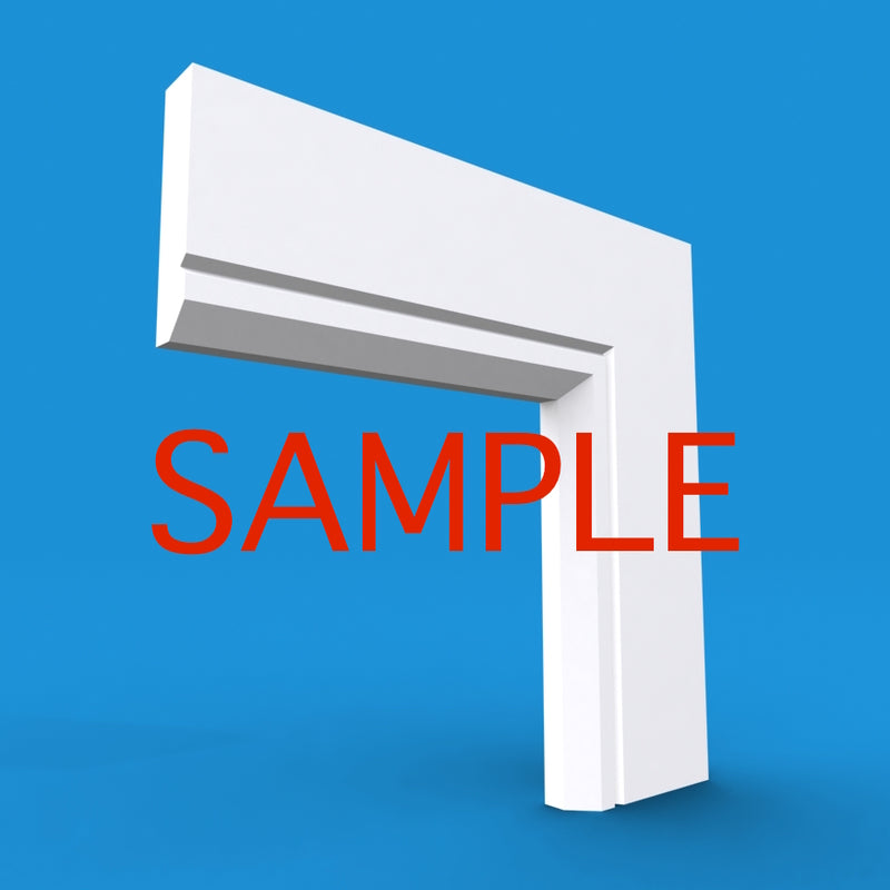 Edge V Grooved MDF Architrave Sample