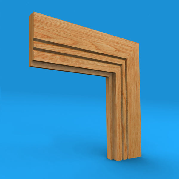 Single Step V Grooved 2 Oak Architrave