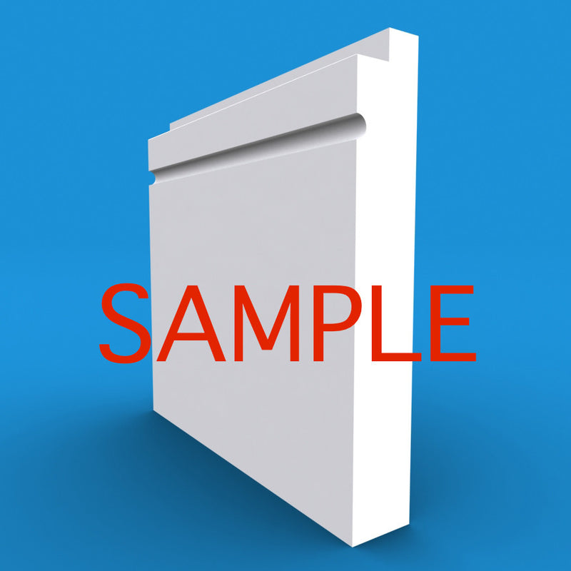 Single Step C Grooved MDF Skirting Sample